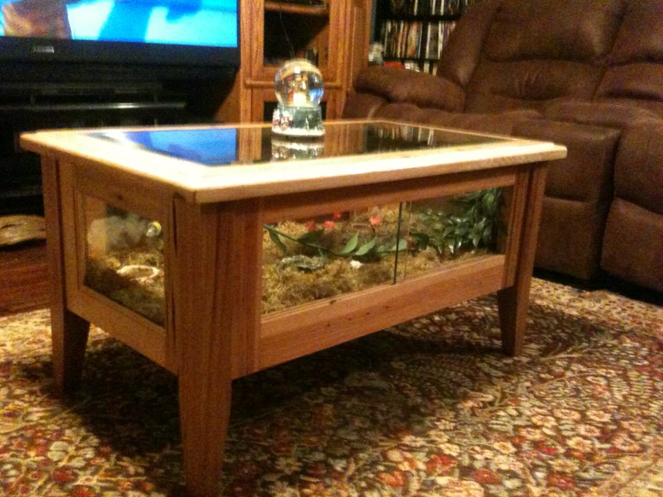 Enclosures you 39 ve built for any animal for Coffee table enclosure