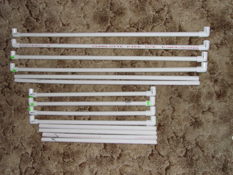 we will assemble the pvc and elbows into a frame like so