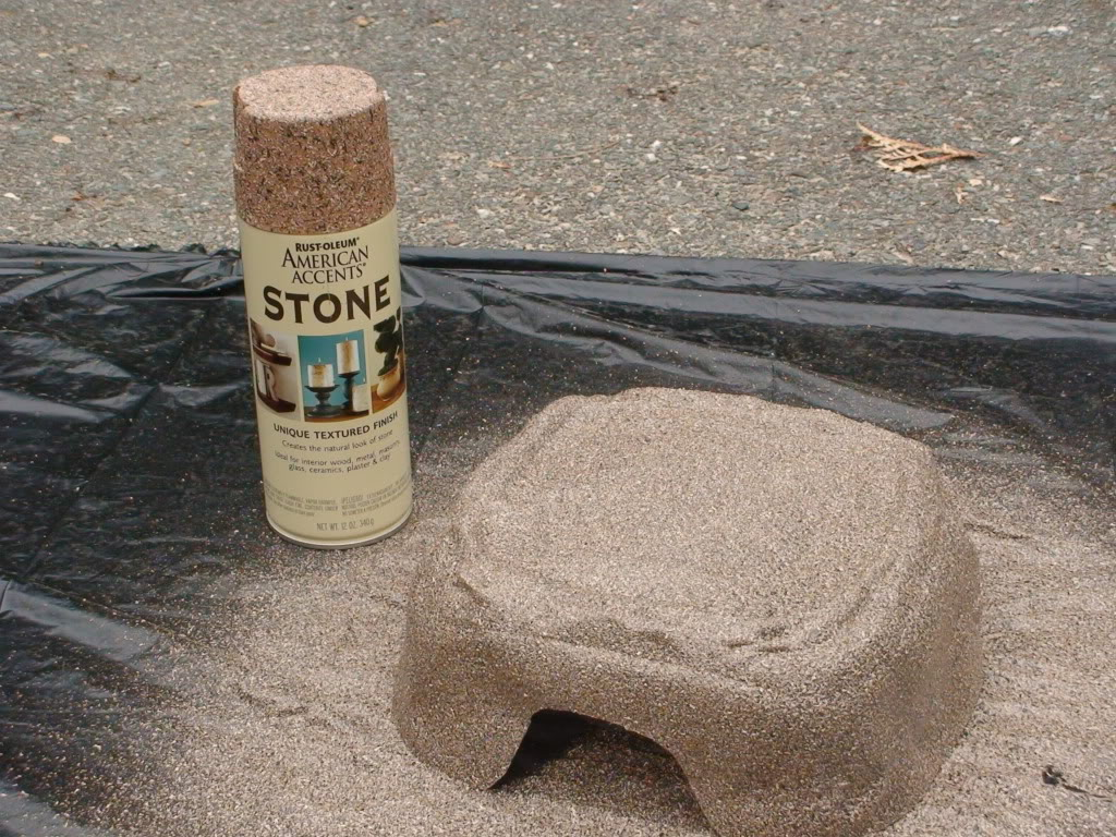 Stone Spray Paint Bowl