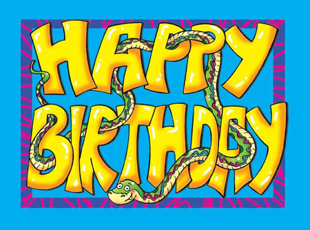 Image result for serpent happy birthday card
