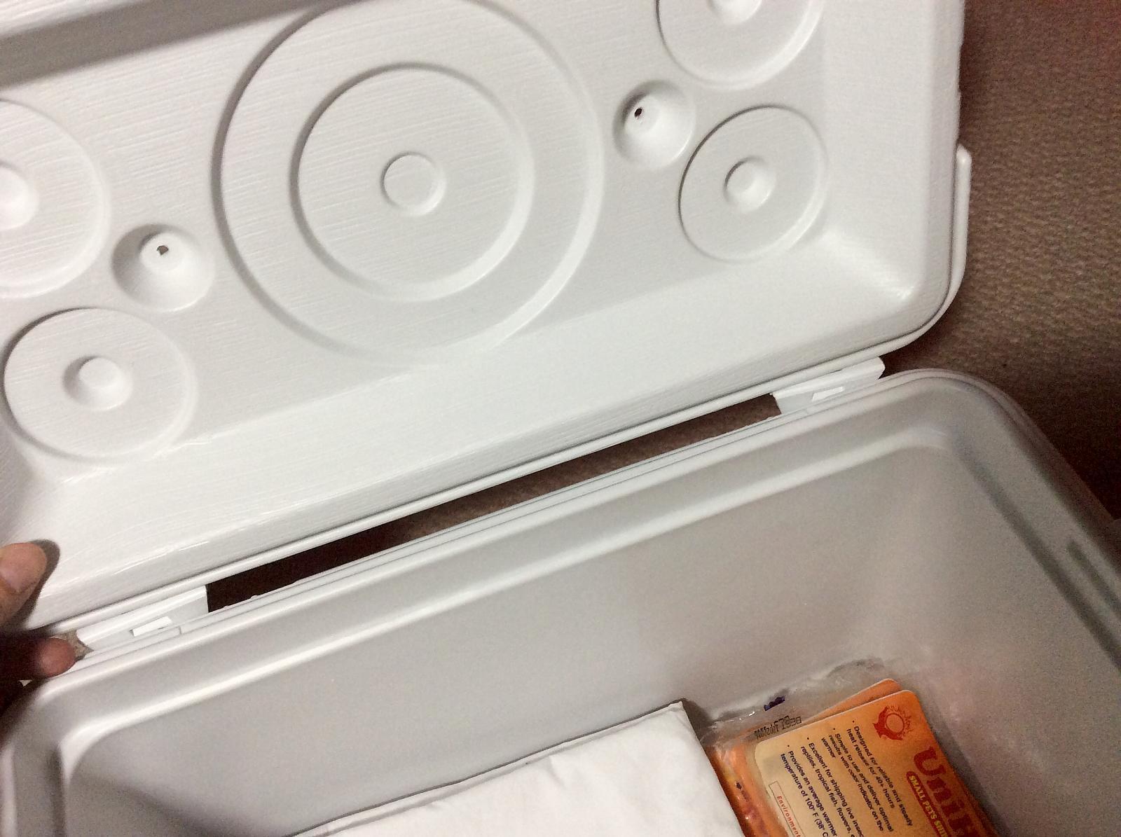 Cooler emergency supplies