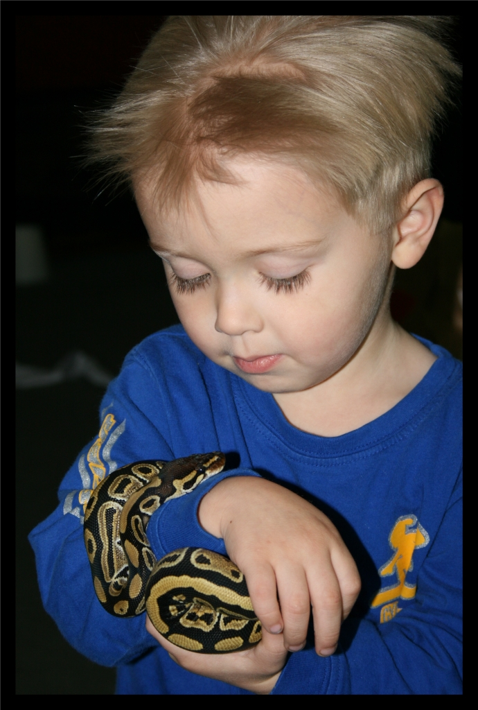 A boy and his snake
